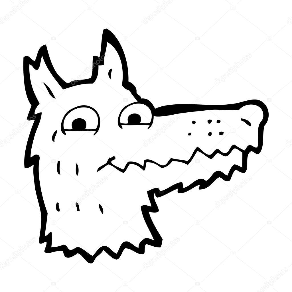 Tête De Loup De Dessin Animé Image Vectorielle Lineartestpilot