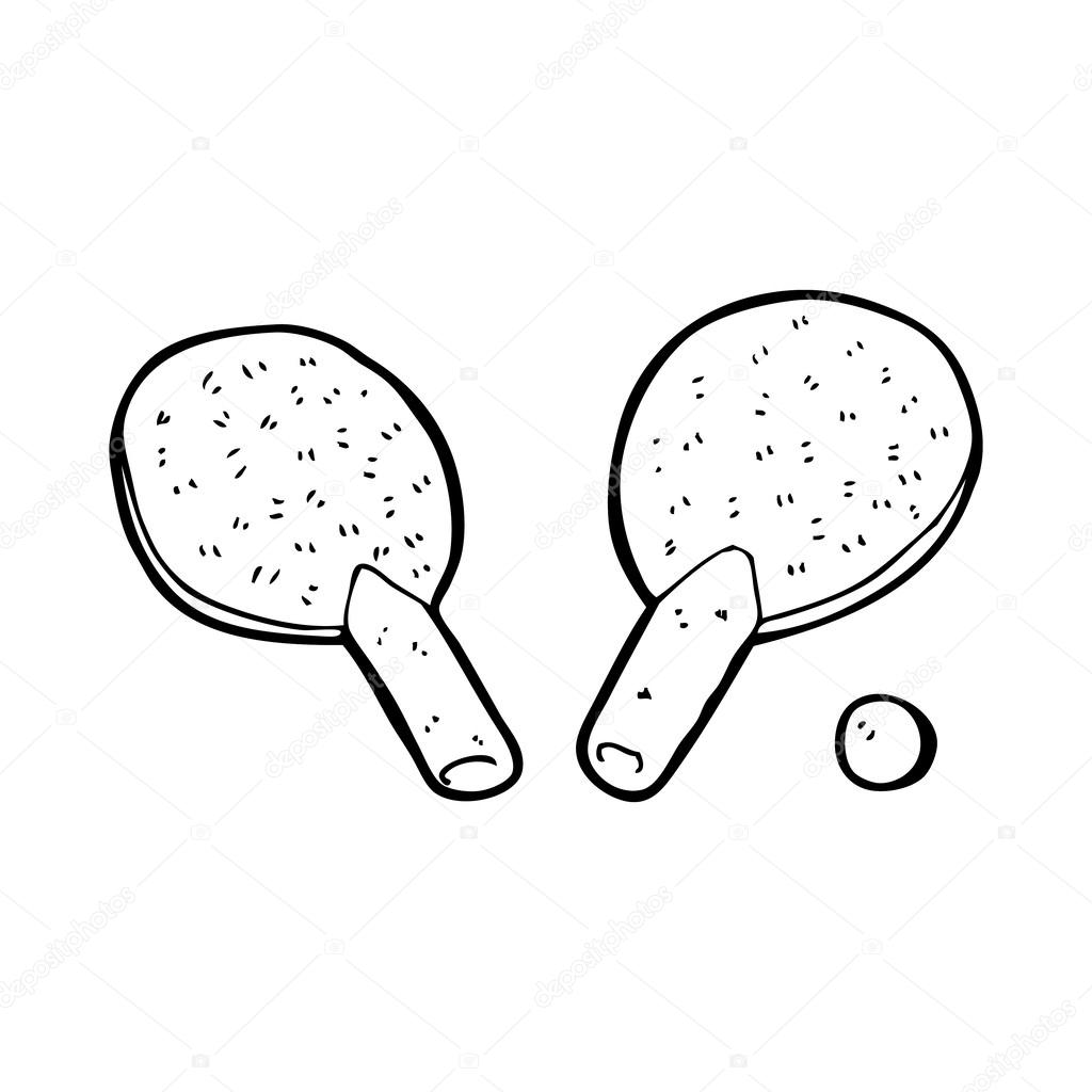 cartoon table tennis bats stock vector lineartestpilot 38437897 Ping Pong Ball Being Hit cartoon table tennis bats stock vector