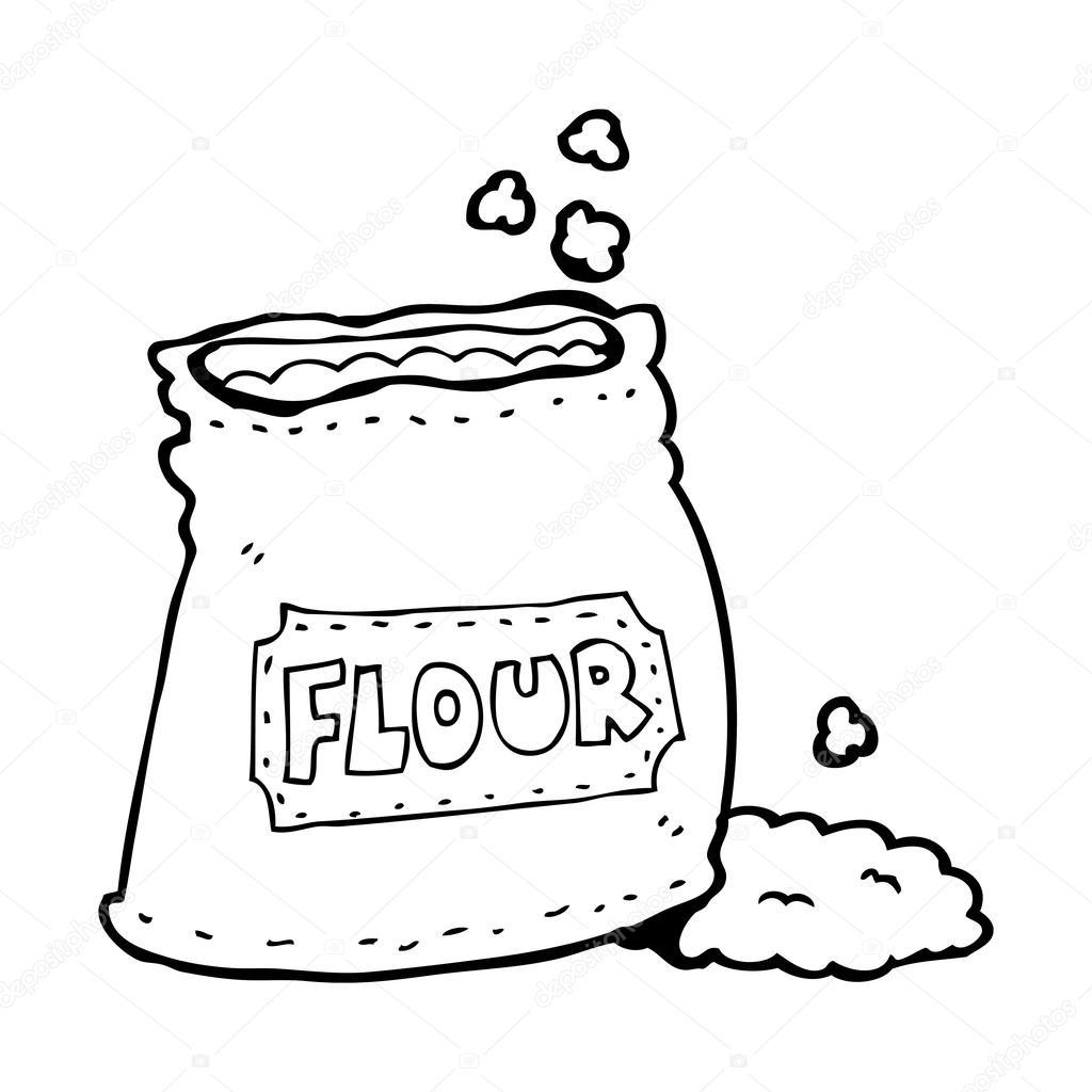 Colouring in bag - Cartoon Bag Of Flour Stock Vector 38438159