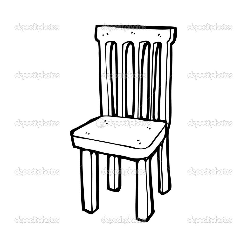Chaise en bois dessin anim image vectorielle for Sillas para dibujar facil
