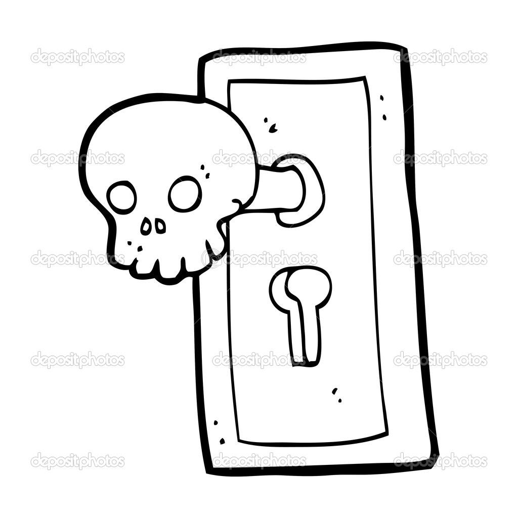 cartoon spooky door knob stock vector a lineartestpilot 38440391