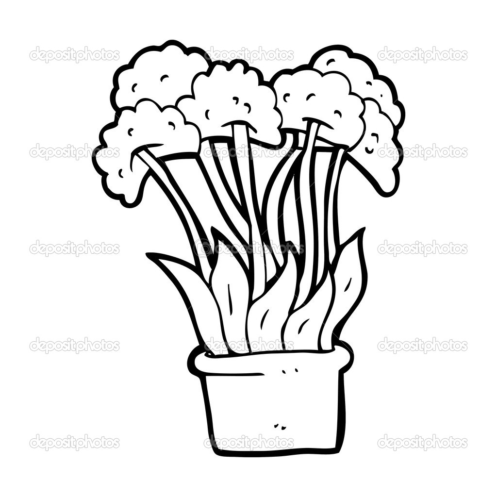 Dibujos animados de flores en maceta archivo im genes for Imagenes de plantas en macetas