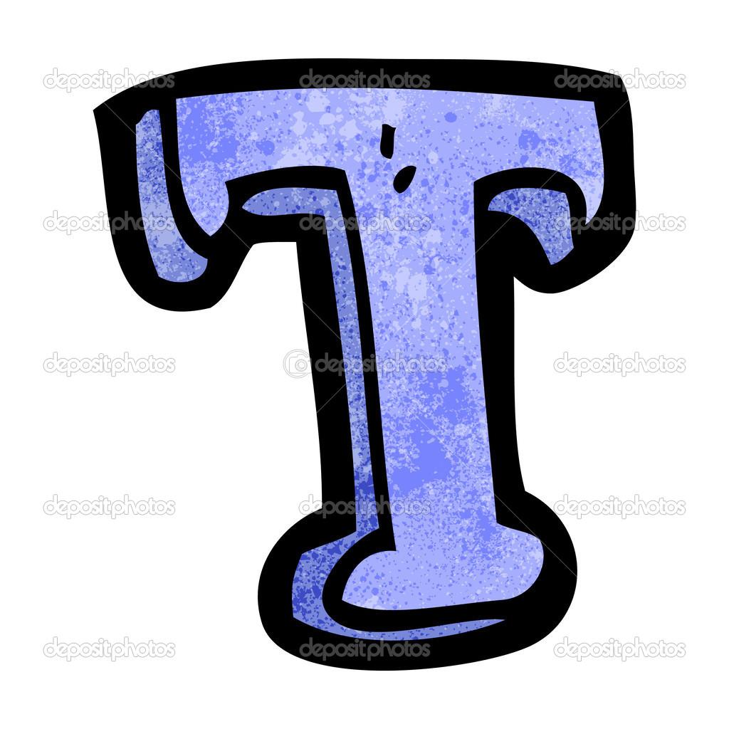 Fotos La Letra T Dibujos Animados De Letra T Vector De Stock