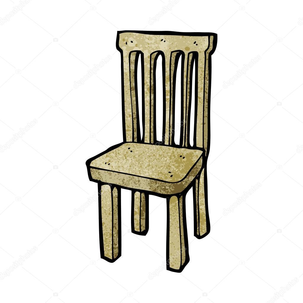 Chaise en bois dessin anim image vectorielle - Dessin de chaise en perspective ...