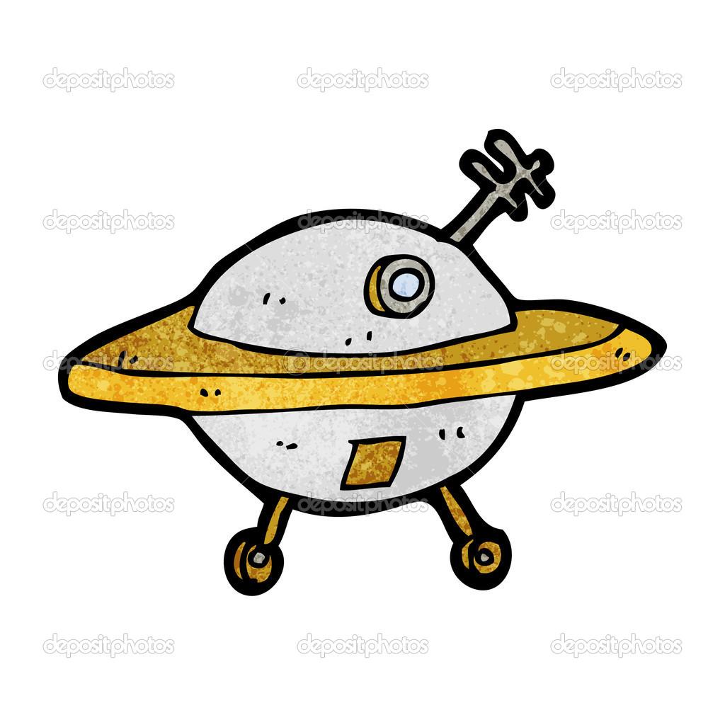 Dessin Soucoupe Volante soucoupe volante de dessin animé — image vectorielle lineartestpilot
