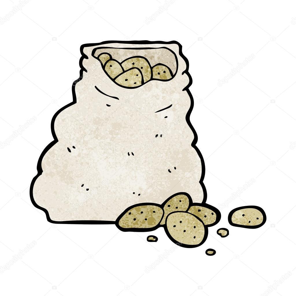 cartoon sack of potatoes stock vector lineartestpilot 39470883. Black Bedroom Furniture Sets. Home Design Ideas