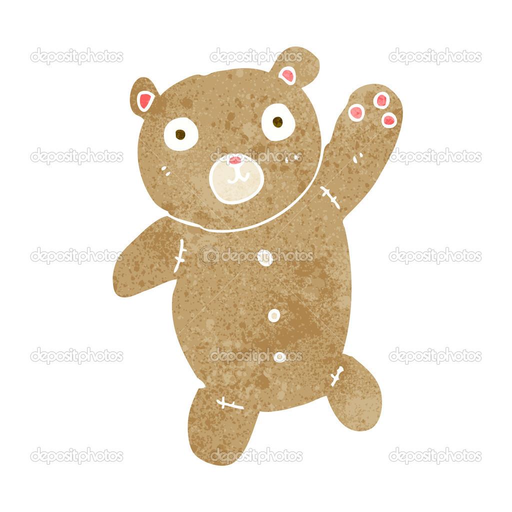 Caricatura lindo oso de peluche — Archivo Imágenes Vectoriales ...