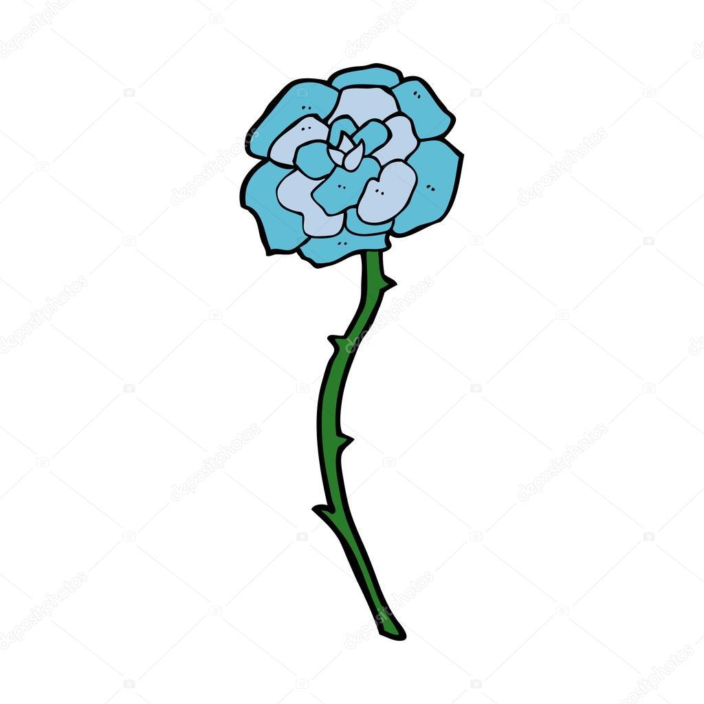 Blue Flower Tattoo Cartoon Stock Vector Lineartestpilot 46439297