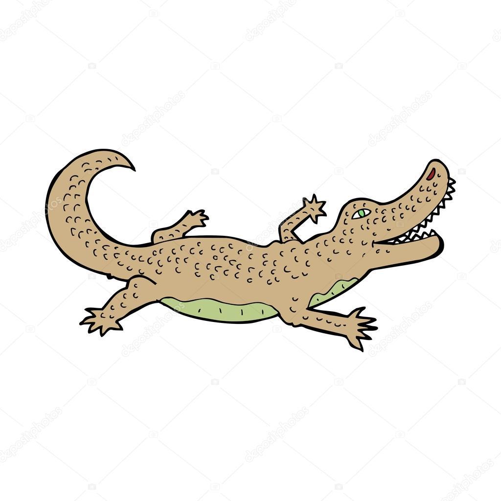 Cartone animato coccodrillo — vettoriali stock