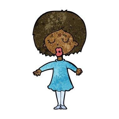 cartoon woman in dress
