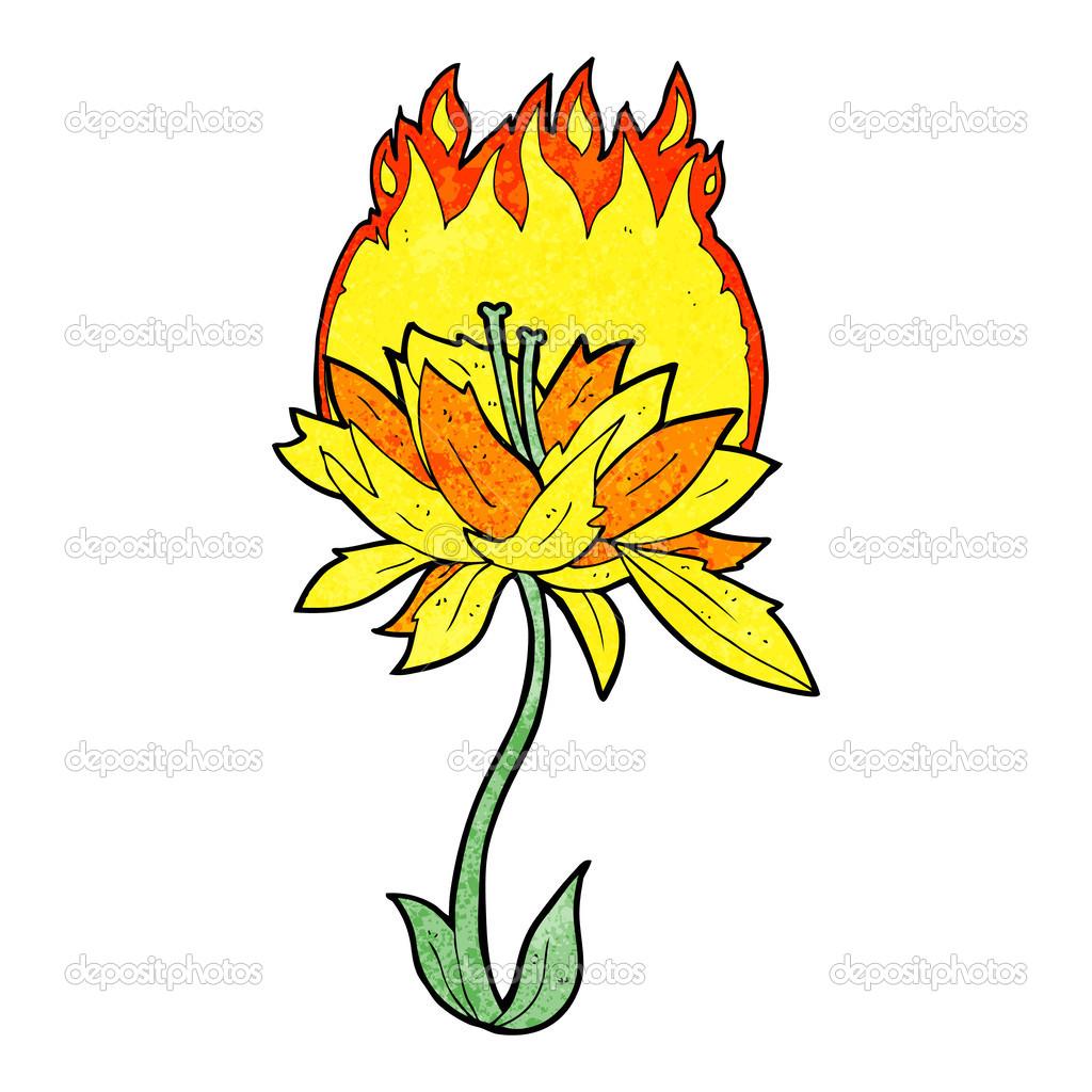 была горящий цветок рисунок это