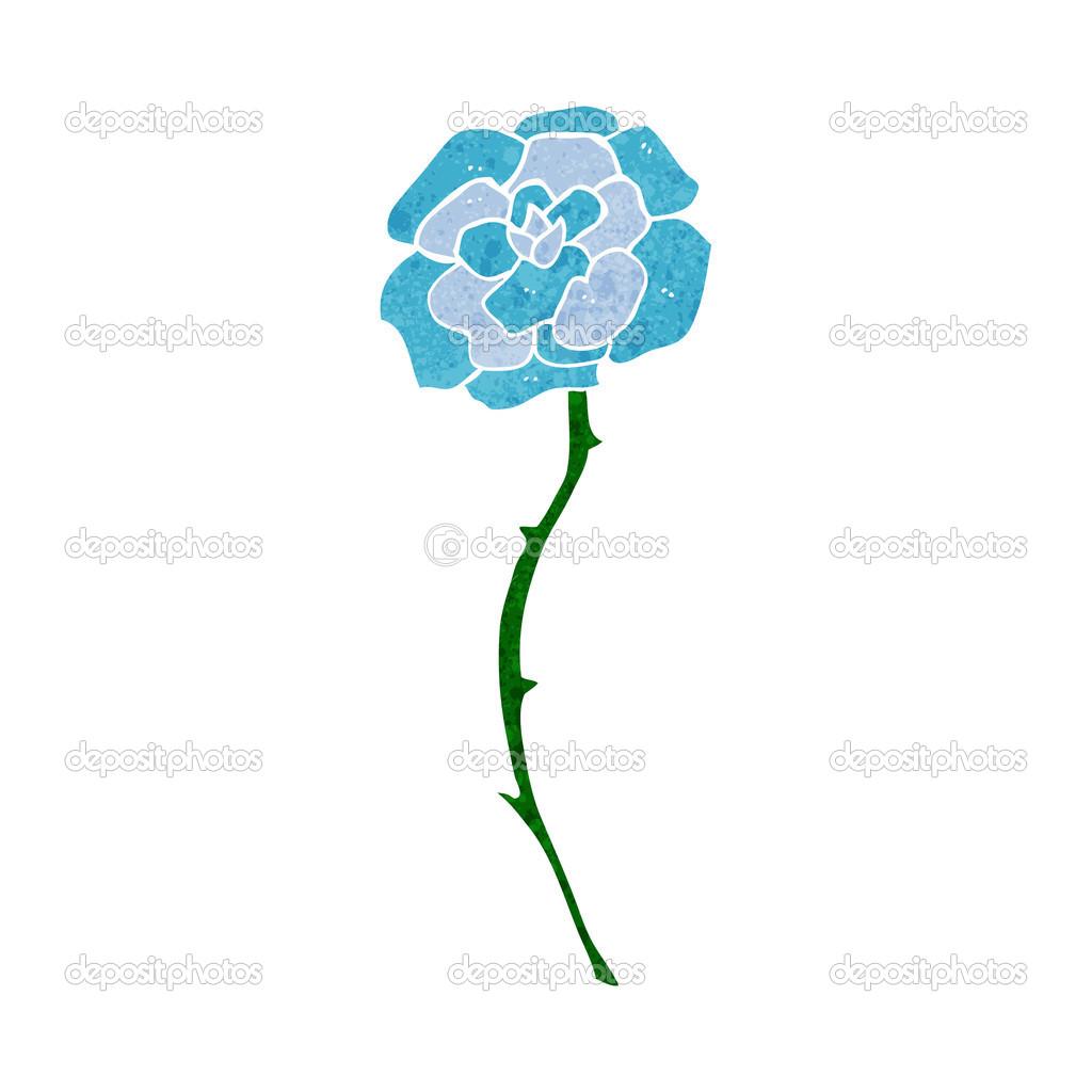 Blue flower tattoo cartoon stock vector lineartestpilot 48201927 blue flower tattoo cartoon stock vector izmirmasajfo