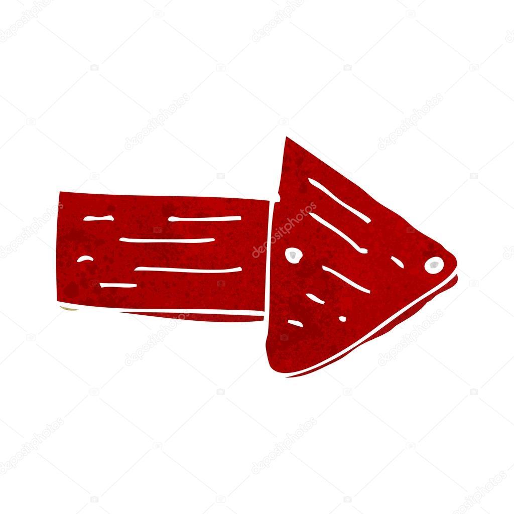 Cartoon Pointing Arrow Symbol Stock Vector Lineartestpilot 48202469