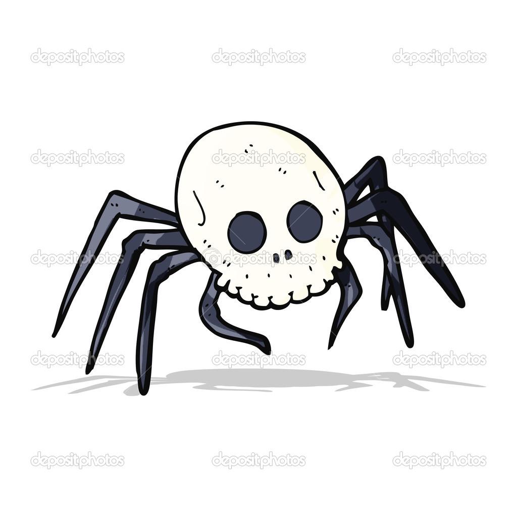 Dibujos Dibujo Arana Halloween Arana De Calavera De Halloween - Dibujos-araas-halloween