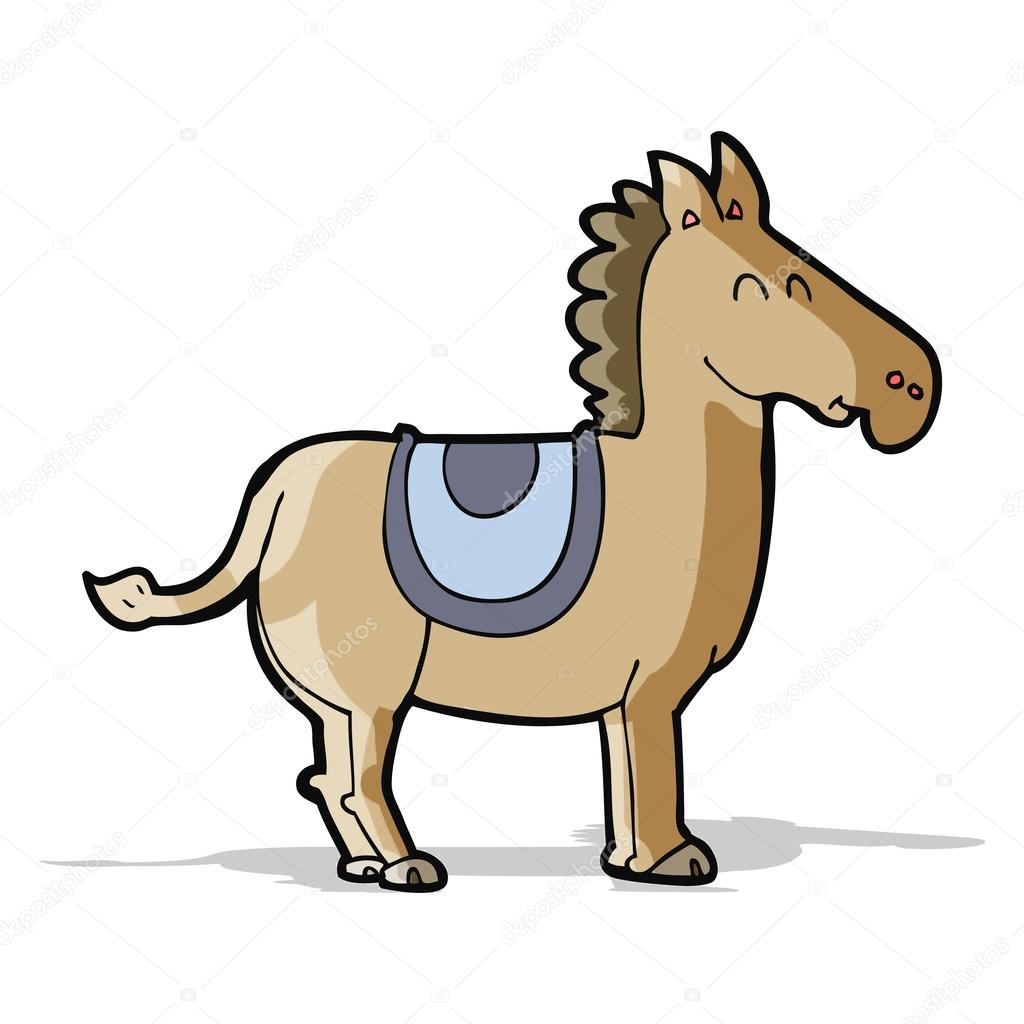 cartoon donkey stock vector lineartestpilot 49557137
