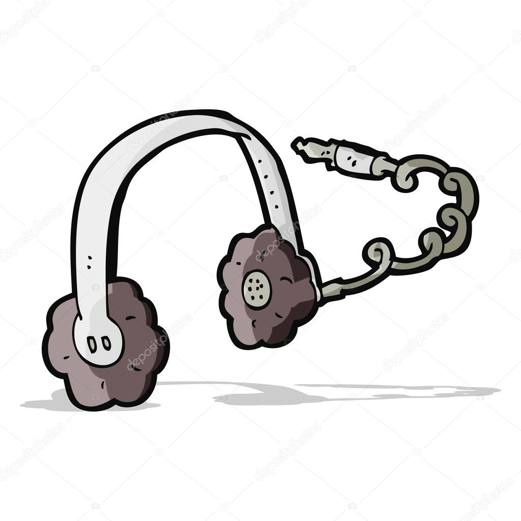 Dessin Casque Audio casque de dessin animé — image vectorielle lineartestpilot © #49558317
