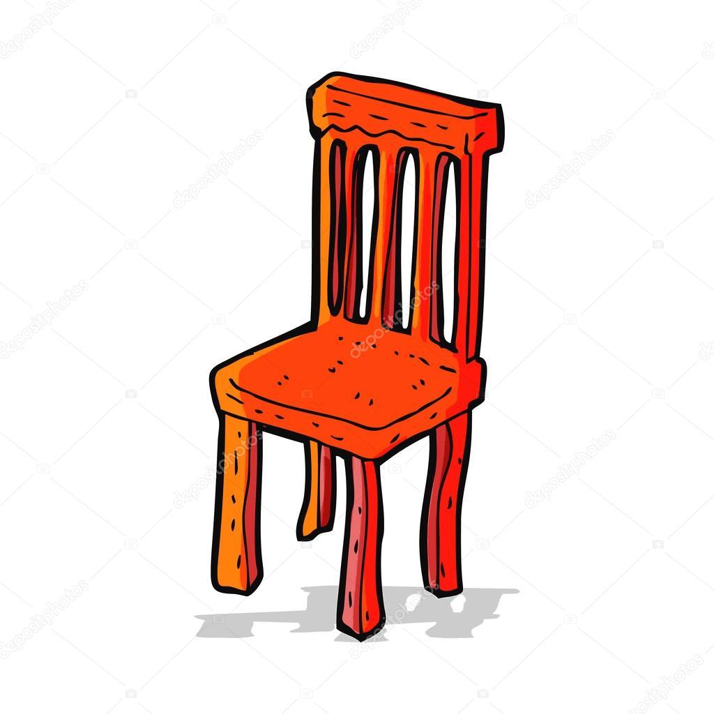 Silla de madera vieja de dibujos animados archivo for Imagenes de sillas