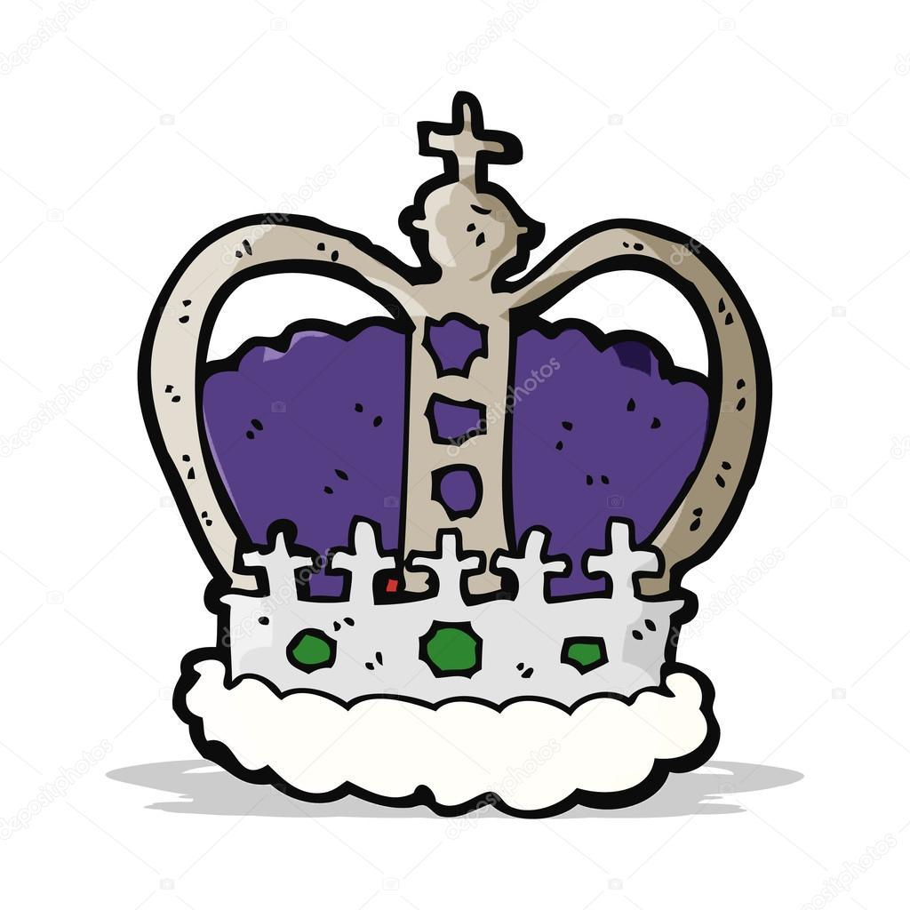 Kreslený královská koruna — Stockový vektor