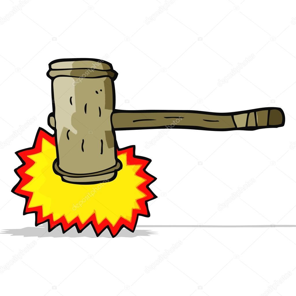 Marteau en bois dessin anim image vectorielle - Dessin de marteau ...
