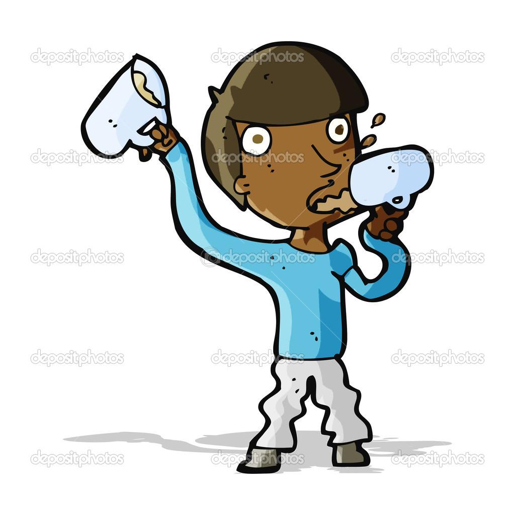 Imágenes: animadas tomando cerveza | hombre de dibujos animados bebiendo  cerveza — Vector de stock © lineartestpilot #50039953