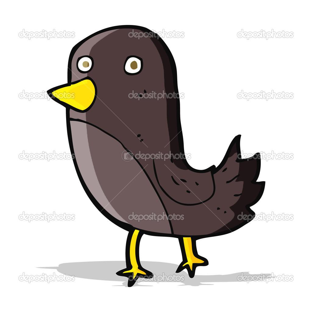 Cartone animato uccello u vettoriali stock lineartestpilot