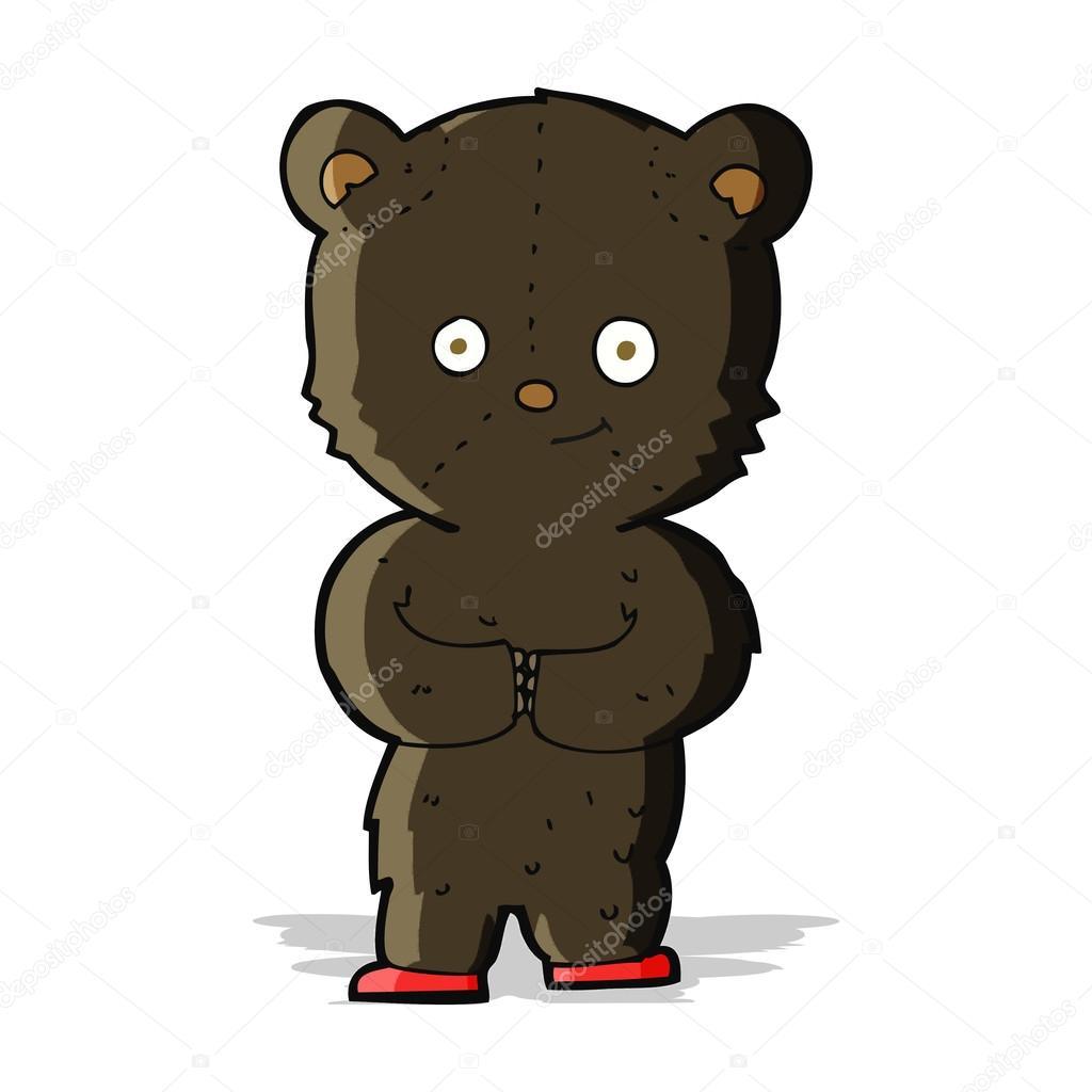 Rosa cuore orso teddy cartone animato icona rosa cuore orso
