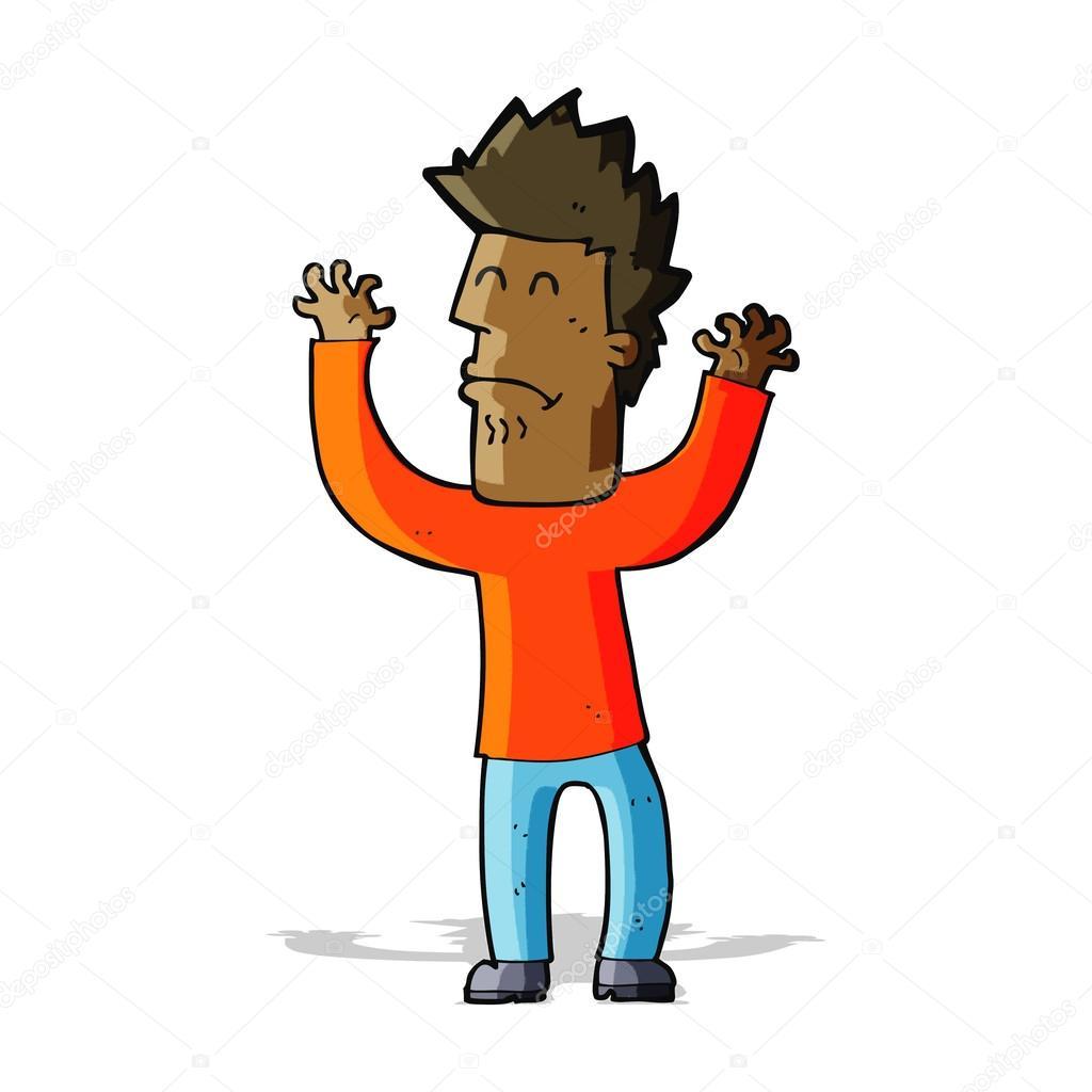 Cartone animato ha sottolineato uomo — vettoriali stock