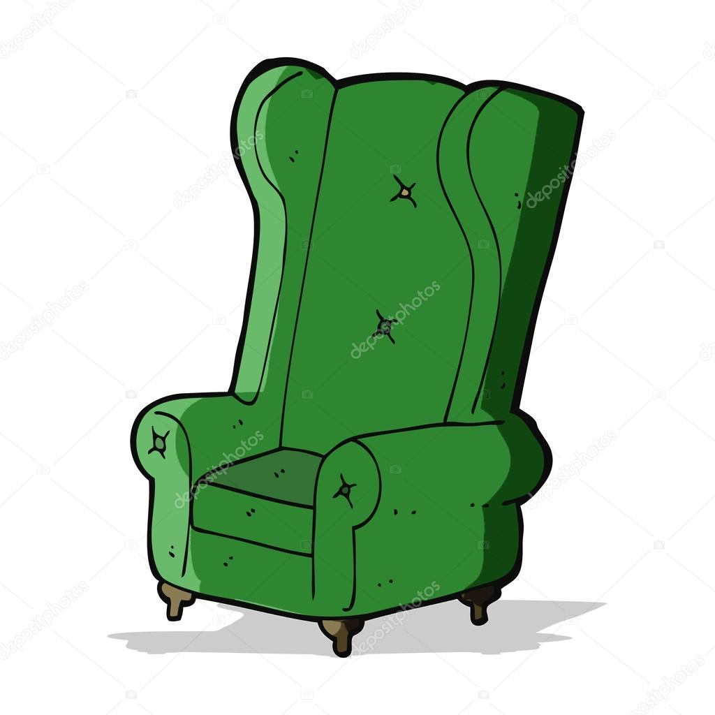 Cartoon Old Armchair U2014 Stock Vector
