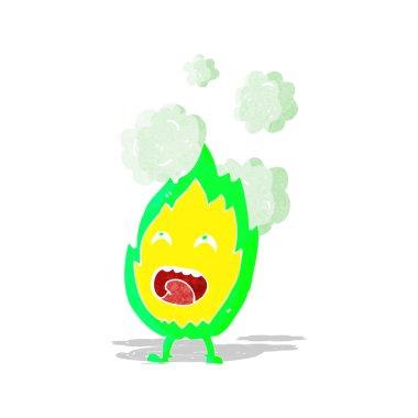 cartoon flame character