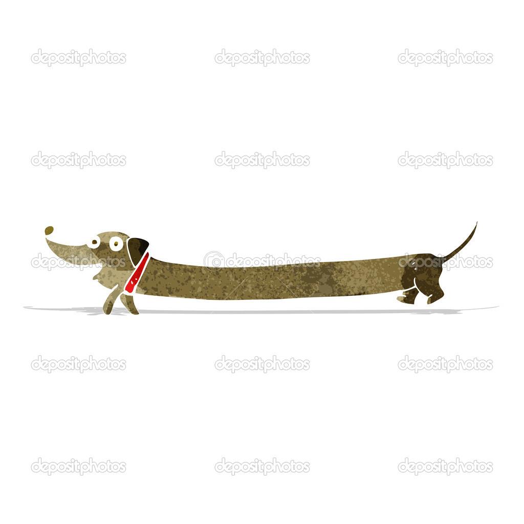 Bassotto a cartone animato u2014 vettoriali stock © lineartestpilot