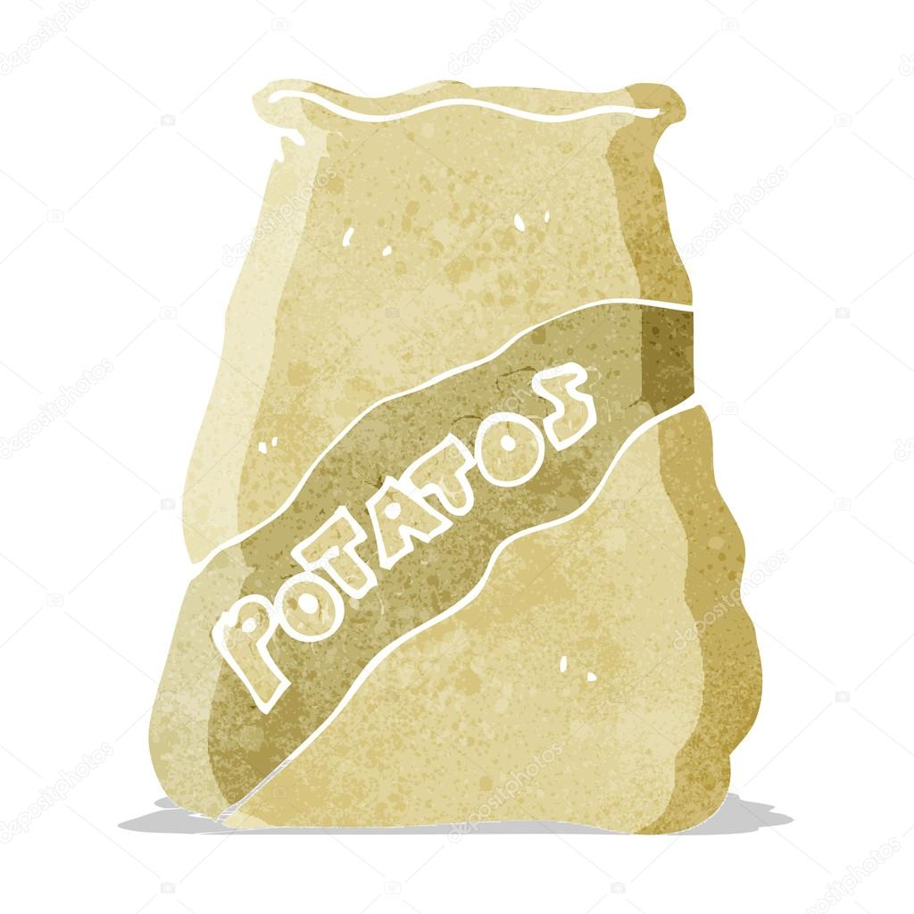 boutique officielle grande remise pour super populaire Dessin animé sac de patates — Image vectorielle ...