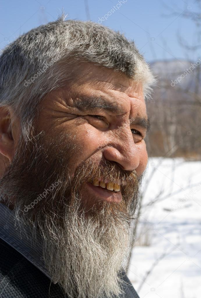 Old Mongoloid Man — Stock Photo © KirsanovVal #17640313