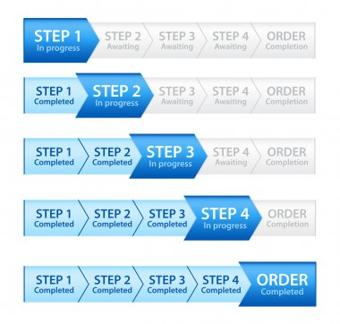 Blue Progress Bar for Order Process