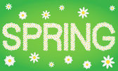 Frühling Tag komponiert aus Gänseblümchen-Blüten