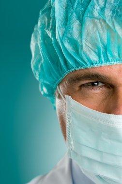 Closeup portrait of male doctor
