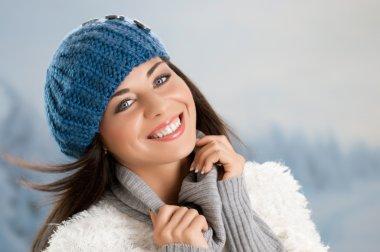 Winter joyful moment
