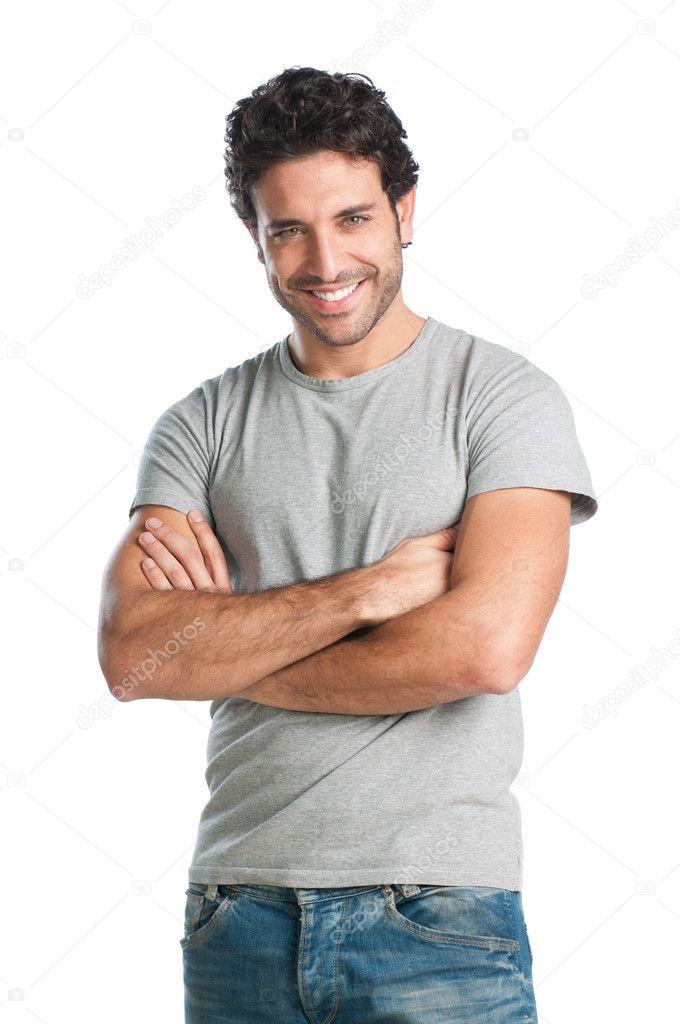 Happy guy isolated