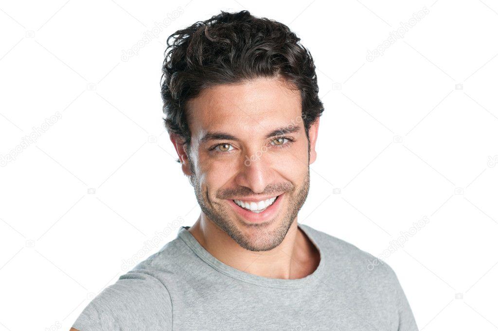 Joyful man face
