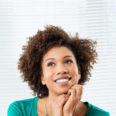 Happy Thinking Woman