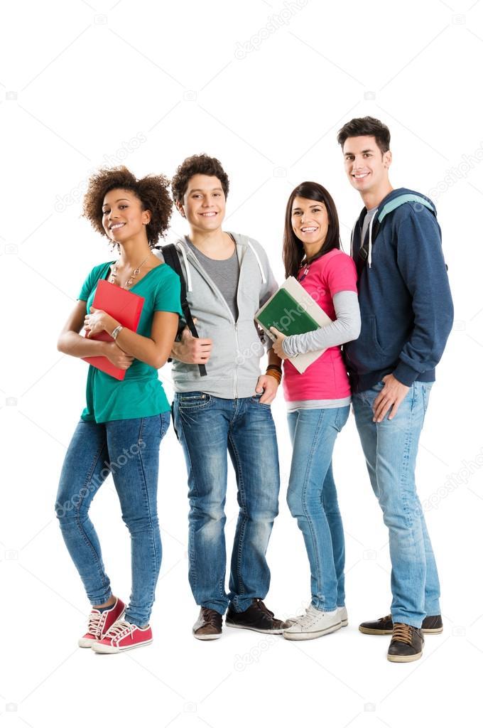 Portrait Of Multi Ethnic Students