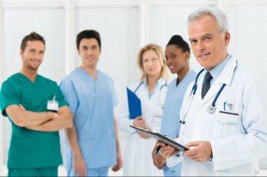 Doctors team at hospital