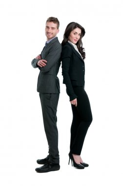 Happy proud business team