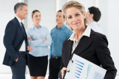 Satisfied Mature Businesswoman