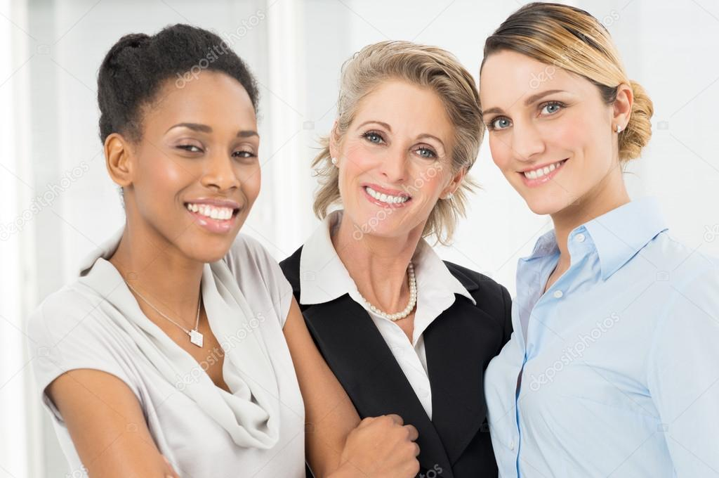 Group Of Happy Businesswomen Only