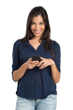 Happy Girl Holding Phone