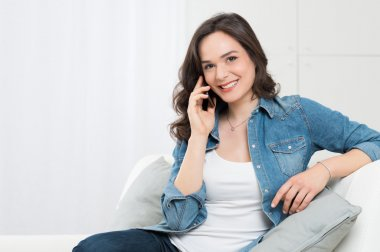 Beautiful Woman Talking On Cellphone