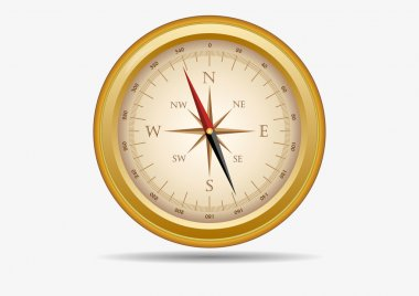 Golden old compass