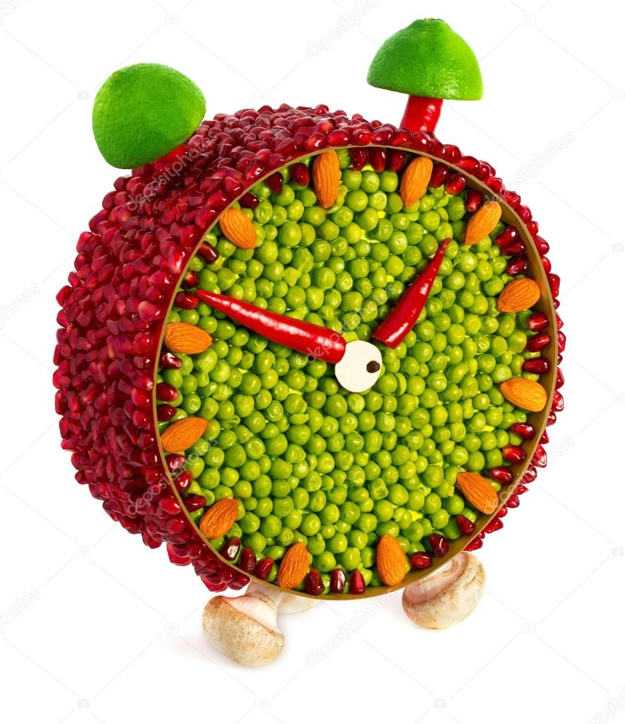 fruit and vegetable volume clock