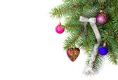 vánoční věnec, hranice s výzdobou, ornament na bílém pozadí