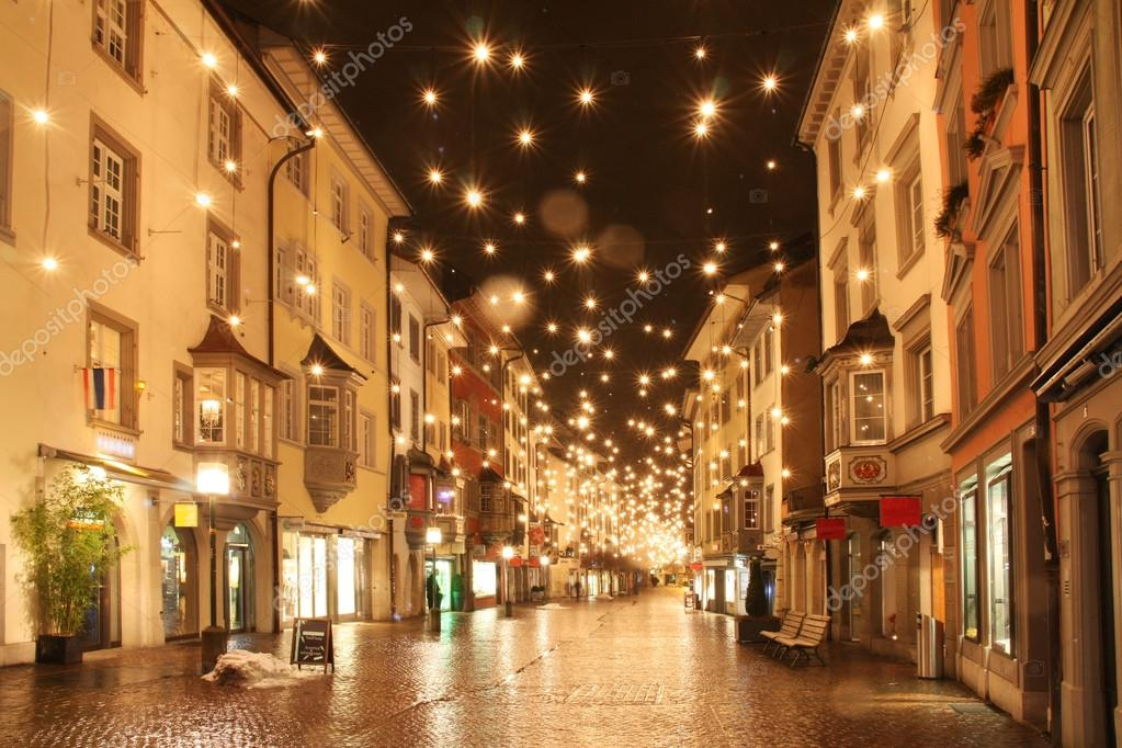 Фотообои Street in a Christmas night